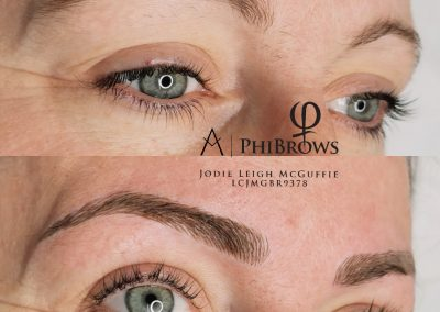 Microblading before and after picture 1